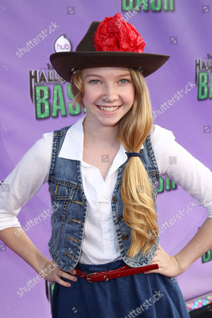 """Elise Luthman arrives at """"Hub Network's First Annual Halloween Bash"""", at the Barker Hanger in Santa Monica, Calif. The star-studded special will be broadcasted on the Hub Network on Saturday Oct. 26, 2013"""