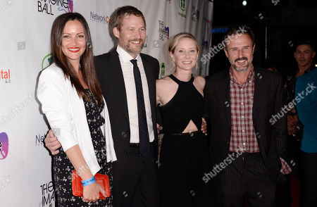 Christina McLarty, and from left, James Tupper, Anne Heche and David Arquette arrive at THE IMAGINE BALL LA Benefit Concert at the House of Blues, in West Hollywood, Calif
