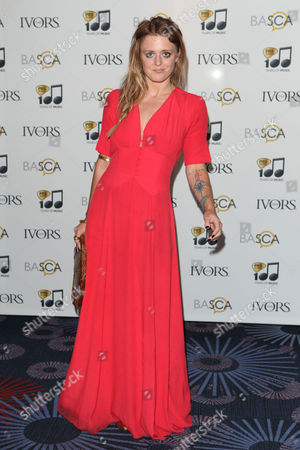 Bo Bruce arriving for the 59th Ivor Novello Awards, at the Grosvenor House Hotel, London, on . Photo by Mark Allan /Invision/AP