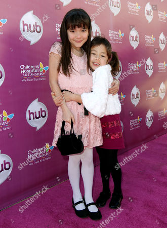 "Chloe Noelle, left, and Aubrey Anderson-Emmons attend The Hub TV Network's ""My Little Pony Friendship is Magic"" Coronation Concert at the Brentwood Theatre, in Los Angeles in support of Children's Hospital LA"