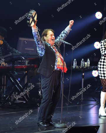 Stock Image of Eddie Brigati of The Rascals performs at Hard Rock Live! in the Seminole Hard Rock Hotel & Casino on in Hollywood, Florida