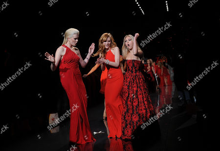 Stock Image of Anna Sophia Robb walks the runway at the The Red Dress Collection 2014 on in New York