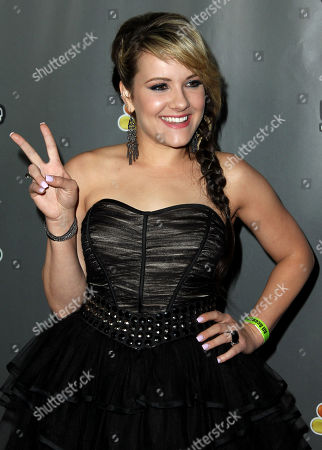 """Amber Carrington arrive at """"The Voice"""" season 4 red carpet event at the House of Blues on in Los Angeles"""