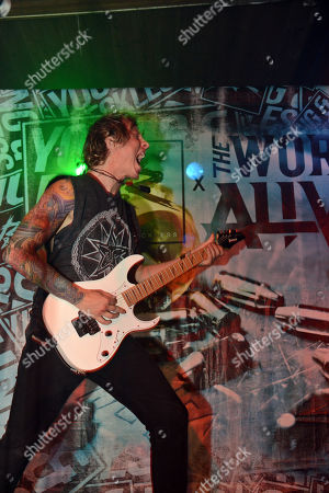 Stock Image of Zack Hansen of The Word Alive performs, at The Masquerade, in Atlanta