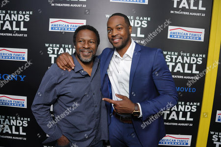 Director Thomas Carter and Ser'Darius Blain seen at The World Premiere of Tri Star Pictures' 'When The Game Stands Tall' at ArcLight Cinemas Hollywood, in Los Angeles