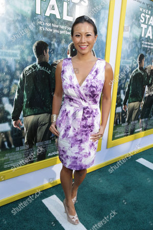Stock Photo of Angela Sun seen at The World Premiere of Tri Star Pictures' 'When The Game Stands Tall' at ArcLight Cinemas Hollywood, in Los Angeles