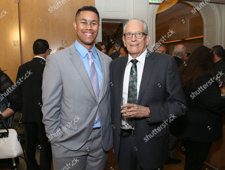 Donovan Ellis, left, Kenneth Feinberg and at THR's Entertainment Business Managers event sponsored by City National Bank, Delta Air Lines, Beverly Hills BMW, CAPS, and Battaglia on at CUT in Beverly Hills, Calif