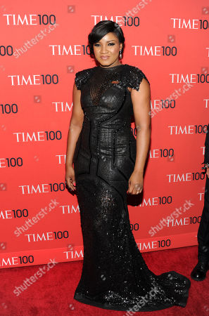 """Nigerian actress and singer Omotola Jalade-Ekeinde attends the TIME 100 Gala celebrating the """"100 Most Influential People in the World"""" at Jazz at Lincoln Center on in New York"""