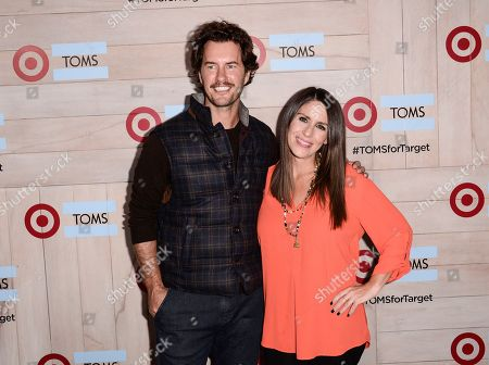 Actress Soleil Moon Frye, right, and TOMS Founder Blake Mycoskie attend the celebration for the TOMS for Target holiday partnership at The BookBindery on in Culver City, Calif