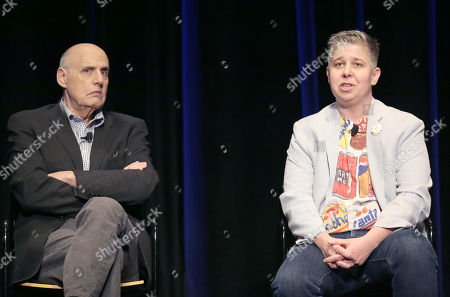 Jeffrey Tambor, left, and Ali Liebegott attend Transparent: Anatomy of an Episode at Ace Hotel, in Los Angeles