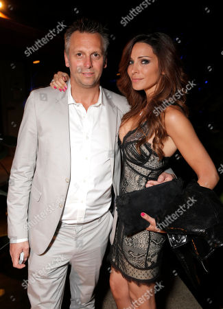 Treats! Publisher Steve Shaw and Tina Casciani attend Treats! Magazine 7th Issue Launch Party Honoring Cover Star Dylan Penn hosted by DSTLD Jeans and Shnaap, on in Beverly Hills, Calif
