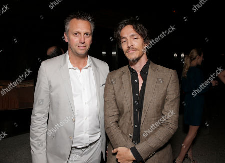 Treats! Publisher Steve Shaw and Brandon Boyd attend Treats! Magazine 7th Issue Launch Party Honoring Cover Star Dylan Penn hosted by DSTLD Jeans and Shnaap, on in Beverly Hills, Calif