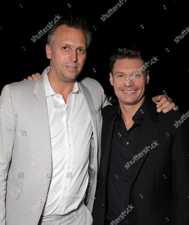 Treats! Publisher Steve Shaw and Ryan Seacrest attend Treats! Magazine 7th Issue Launch Party Honoring Cover Star Dylan Penn hosted by DSTLD Jeans and Shnaap, on in Beverly Hills, Calif