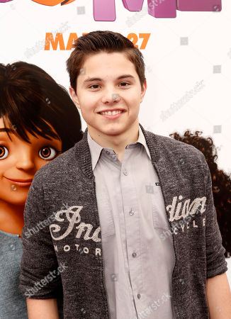 "Zach Callison seen at the Twentieth Century Fox and DreamWorks Animation Los Angeles Premiere of ""Home"" held at the Regency Village Theatre, in Westwood, Calif"