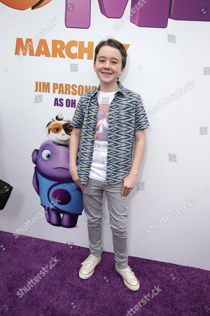 "Benjamin Stockham seen at the Twentieth Century Fox and DreamWorks Animation Los Angeles Premiere of ""Home"" held at the Regency Village Theatre, in Westwood, Calif"