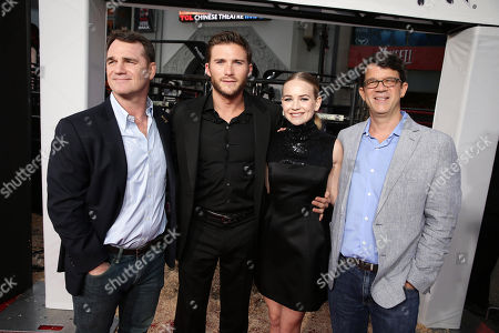 """Producer Marty Bowen, Scott Eastwood, Britt Roberston and producer Wyck Godfrey seen at the Twentieth Century Fox Premiere of """"The Longest Ride"""" held at TCL Chinese Theatre, in Hollywood"""