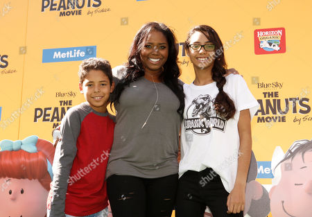 Shar Jackson and children seen at Twentieth Century Fox Premiere of 'The Peanuts Movie' at Regency Village Theater, in Los Angeles, CA