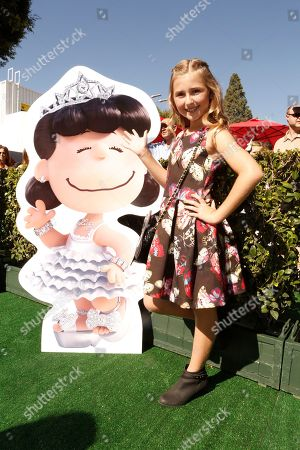 Hadley Belle Miller seen at Twentieth Century Fox Premiere of 'The Peanuts Movie' at Regency Village Theater, in Los Angeles, CA