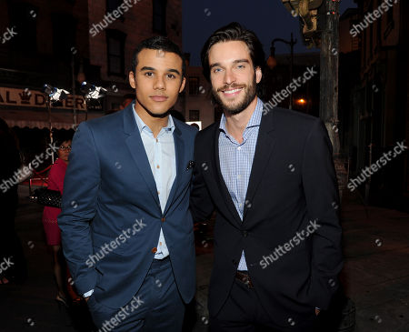 Jacob Artist, left, and Daniel DiTomasso attend the Twentieth Century Fox Television Distribution's 2013 LA Screenings Lot Party on in Los Angeles, California