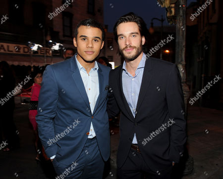 Stock Photo of Jacob Artist, left, and Daniel DiTomasso attend the Twentieth Century Fox Television Distribution's 2013 LA Screenings Lot Party on in Los Angeles, California