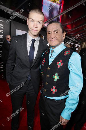 Will Poulter and Duane Howard seen at Twentieth Century Fox World Premiere of 'The Revenant' at TCL Chinese Theatre, in Hollywood, CA