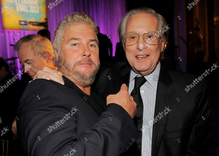 "Director William Friedkin, right, recipient of the Icon Award, poses with actor William Petersen at UCLA's 2013 Visionary Ball at the Beverly Wilshire Hotel on in Beverly Hills, Calif. Friedkin directed Petersen in the 1985 film ""To Live and Die in L.A"