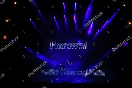 Stock Photo of Robbert van de Corput aka Hardwell performs at the Ultra Music Festival at Bayfront Park, on in Miami, Florida