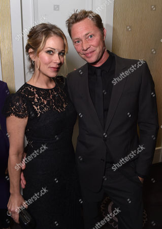 Christina Applegate, left, and Martyn LeNoble attend unite4:good and Variety's 2nd annual unite4:humanity at the Beverly Hilton Hotel on Thursday, Feb.19, 2015, in Beverly Hills, Calif