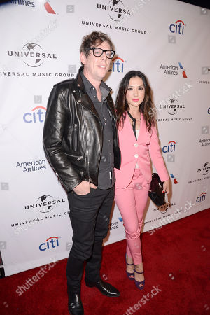 Patrick Carney and Michelle Branch seen at Universal Music Group Grammy Party Presented by American Airlines and Citi at The Theatre at Ace Hotel, in Los Angeles, CA