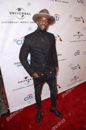 Talay Riley seen at Universal Music Group Grammy Party Presented by American Airlines and Citi at The Theatre at Ace Hotel, in Los Angeles, CA