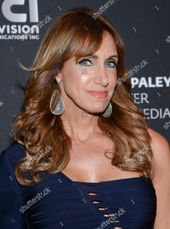 """Lili Estefan, co-host, """"El Gordo y La Flaca, Univision Communications Inc., arrives at """"A Night with Mario Kreutzberger"""", honoring """"Don Francisco"""" at The Paley Center for Media, in New York"""
