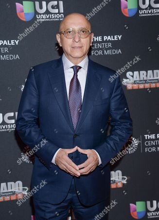 """Alberto Ciurana, president of programming and content, Univision Communications Inc., arrives at """"A Night with Mario Kreutzberger"""", honoring """"Don Francisco"""" at The Paley Center for Media, in New York"""