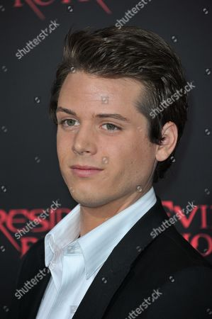 """Drew Osborne attends the US premiere of """"Resident Evil: Retribution"""" at Regal Cinemas L.A. Live on in Los Angeles"""