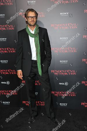 """Johann Urb attends the US premiere of """"Resident Evil: Retribution"""" at Regal Cinemas L.A. Live on in Los Angeles"""