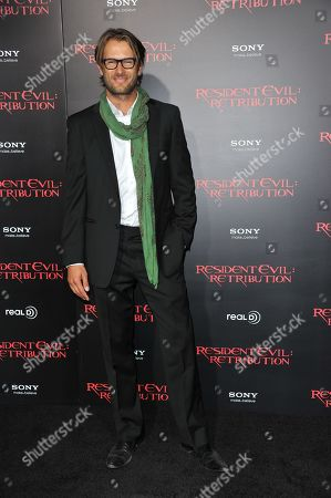 "Johann Urb attends the US premiere of ""Resident Evil: Retribution"" at Regal Cinemas L.A. Live on in Los Angeles"