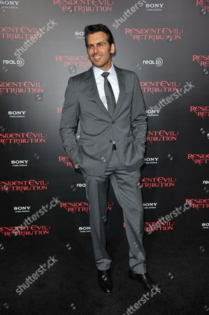 "Oded Fehr attends the US premiere of ""Resident Evil: Retribution"" at Regal Cinemas L.A. Live on in Los Angeles"