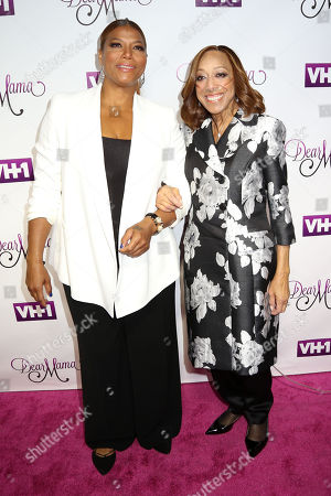 """Stock Picture of Queen Latifah, left, and her mother Rita Owens attend VH1's """"Dear Mama"""" Mother's Day Special taping at St. Bartholomew's Church, in New York"""