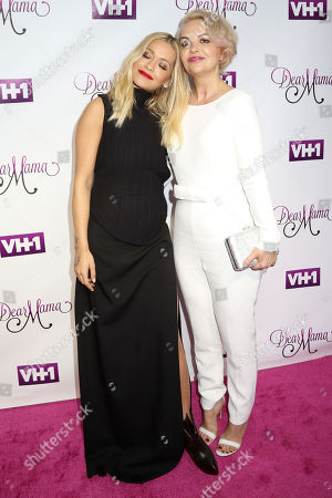 """Rita Ora, left, and her mother Vera Sahatciu attend VH1's """"Dear Mama"""" Mother's Day Special taping at St. Bartholomewâ?™s Church, in New York"""