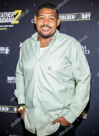 Omar Miller arrives at the VIP Pre-Fight Party for Mayhem: Mayweather Vs. Maidana 2, at The MGM Grand Garden Arena in Las Vegas