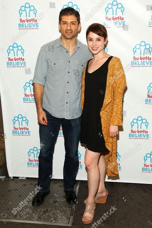 Tony Yazbeck, left, and Katie Huff, right, attend Voices for The Voiceless: Stars for Foster Kids at the St. James Theatre, in New York