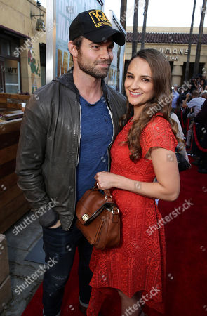 """Daniel Gillies and Rachel Leigh Cook seen at the Warner Bros. and Metro-Goldwyn-Mayer """"MAX"""" Los Angeles Premiere on"""