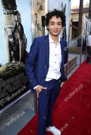 "Dejon LaQuake seen at the Warner Bros. and Metro-Goldwyn-Mayer ""MAX"" Los Angeles Premiere on"