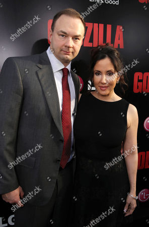 Legendary Picture's Thomas Tull and Alba Tull seen at Warner Bros. Pictures and Legendary Pictures Present the Los Angeles Premiere of 'Godzilla' at Dolby Theatre, in Hollywood