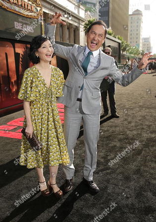 Kaho Minami and Ken Watanabe seen at Warner Bros. Pictures and Legendary Pictures Present the Los Angeles Premiere of 'Godzilla' at Dolby Theatre, in Hollywood