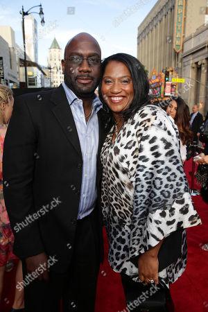 "Richard T. Jones and Nancy Jones seen at Warner Bros. Premiere of ""Hot Pursuit"", in Los Angeles"