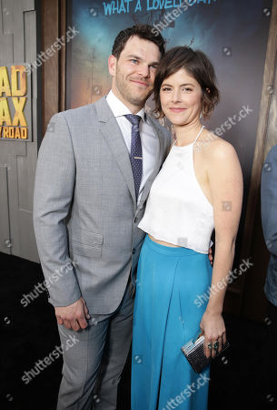 """Stock Photo of Josh Helman and Jennifer Allcott seen at the Warner Bros. premiere of """"Mad Max: Fury Road"""", in Los Angeles"""