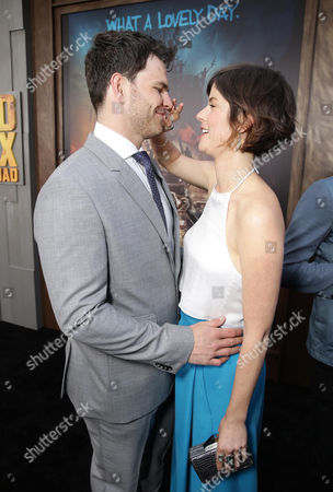 """Stock Picture of Josh Helman and Jennifer Allcott seen at the Warner Bros. premiere of """"Mad Max: Fury Road"""", in Los Angeles"""