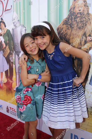 Aubrey Anderson-Emmons and Chloe Noelle seen at Warner Bros. world premiere screening of The Wizard of Oz in IMAX 3D and the grand opening of the newly converted TCL Chinese Theatre IMAX in Hollywood, the very site of the film's 1939 Hollywood premiere. The new TCL Chinese Theatre IMAX is now the largest IMAX auditorium in the world and the first IMAX theatre in Hollywood. Held on Sunday, Sep, 15, 2013 in Los Angeles