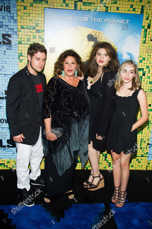 "Lainie Kazan and family attend the world premiere of ""Pixels"" at Regal E-Walk, in New York"