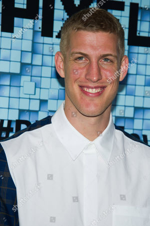 """Mason Plumlee attends the world premiere of """"Pixels"""" at Regal E-Walk, in New York"""